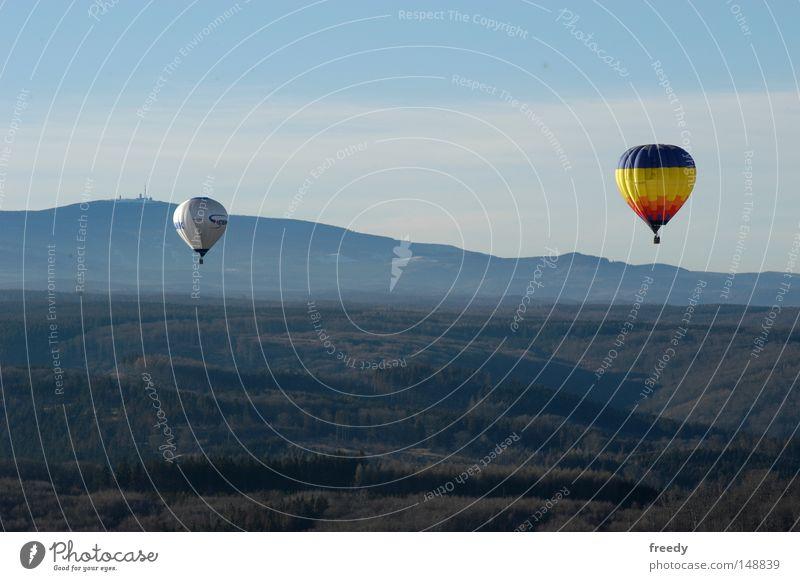 Ballonfahrt (Harz) Ferne Berge u. Gebirge Bewegung Nebel fahren Freizeit & Hobby Ballone
