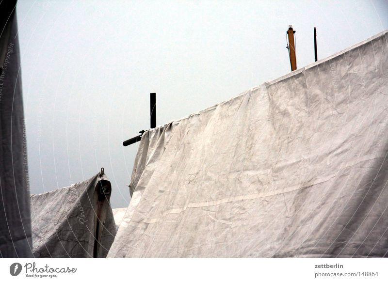 Pause Herbst Traurigkeit Wasserfahrzeug Dach Trauer Stoff trocken Verzweiflung Textilien Zelt Abdeckung Tuch November Segelboot Jacht Oktober