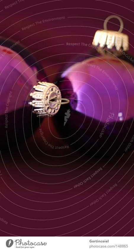 Violet Weihnachten & Advent Winter Feste & Feiern glänzend violett Dekoration & Verzierung Kugel Christbaumkugel Weihnachtsdekoration besinnlich schimmern Baumschmuck Glaskugel