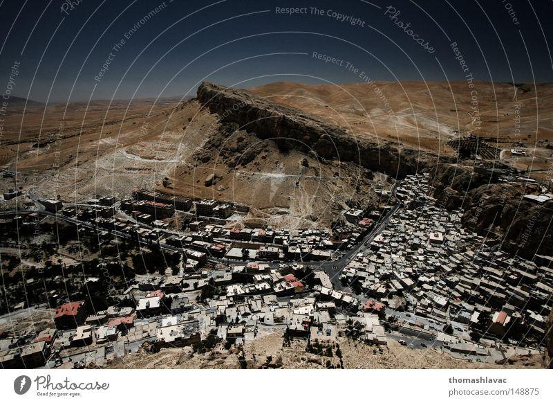 Maalula Dorf Syrien Wüste Christentum Kloster Haus historisch Asien Religion