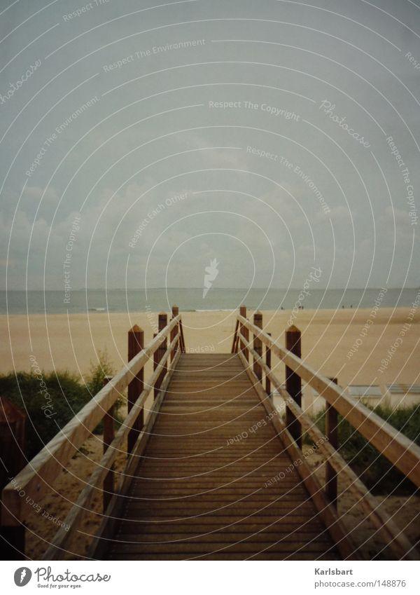 a fine day to exit ... schön Himmel Meer blau Sommer Strand Wolken Ferne Leben Herbst Wege & Pfade See Sand braun Küste wandern