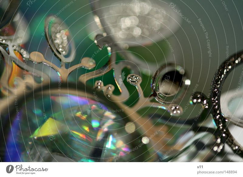 WeihnachtsSchnörkel Weihnachten & Advent schön grün Winter Lampe Spielen Feste & Feiern Metall glänzend Glas elegant Makroaufnahme Stern (Symbol) rund Dekoration & Verzierung
