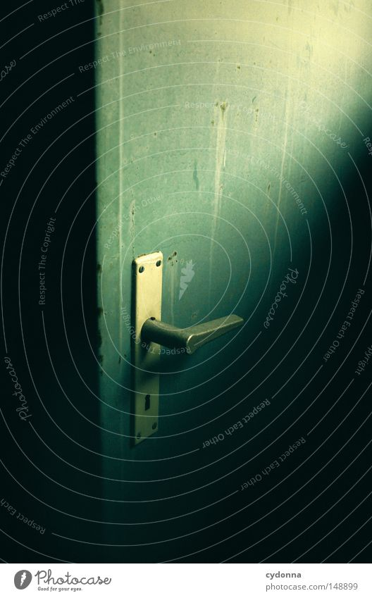 Dahinter? alt Einsamkeit Gebäude Tür Hintergrundbild Aktion Kommunizieren Dinge Spuren geheimnisvoll verfallen DDR Wissen Erinnerung Erzählung Anschnitt