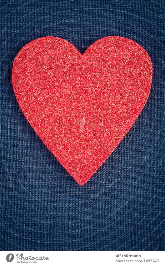 Herz Symbol blau rot Freude Liebe Gefühle Glück Feste & Feiern Zusammensein Freundschaft Dekoration & Verzierung Geburtstag Lebensfreude Zeichen Romantik