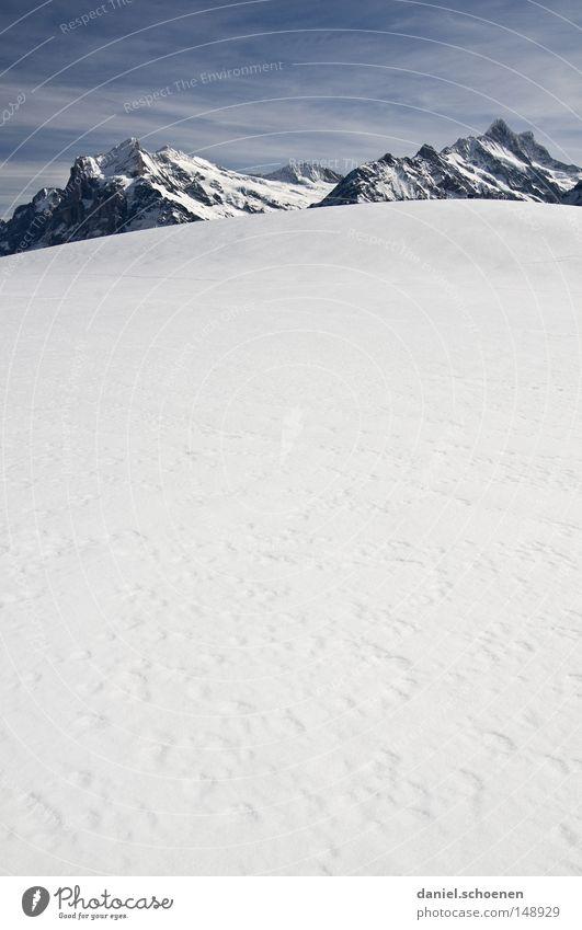 bald wird`s kalt (Teil 2) Himmel weiß Winter Berge u. Gebirge Schnee Hintergrundbild hell Wetter Eis groß Gipfel Alpen Klettern Schweiz Bergsteigen