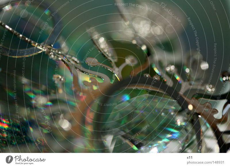 WeihnachtsSchnörkel II Weihnachten & Advent schön grün Winter Lampe Spielen Feste & Feiern Metall glänzend Glas elegant Stern (Symbol) rund