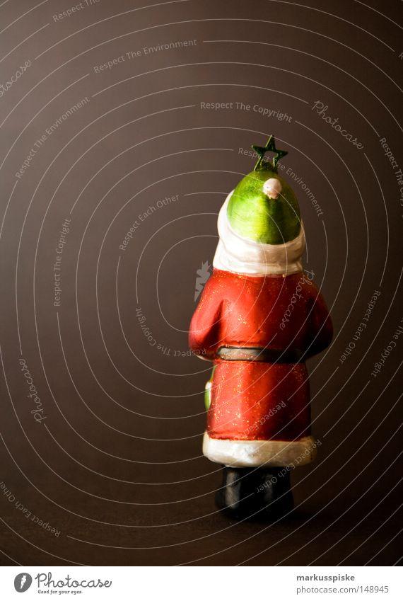 nikolaus - zeit Weihnachten & Advent weiß rot Winter schwarz Religion & Glaube Feste & Feiern gold Rücken Perspektive Stern (Symbol) Dekoration & Verzierung Weihnachtsmann Bart Mütze