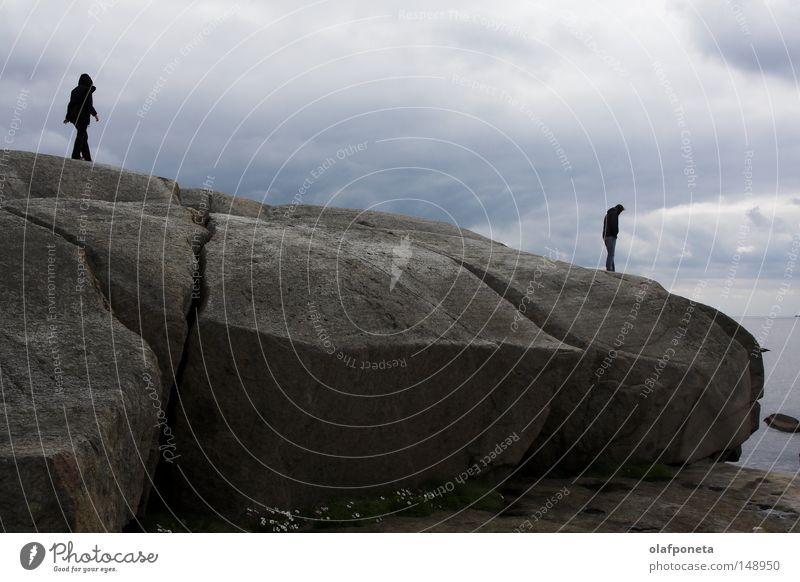 ganz am Ende der Welt Wasser Meer Strand ruhig Einsamkeit kalt See Regen Küste Wind Wetter Felsen Europa Ende Schweden Norwegen