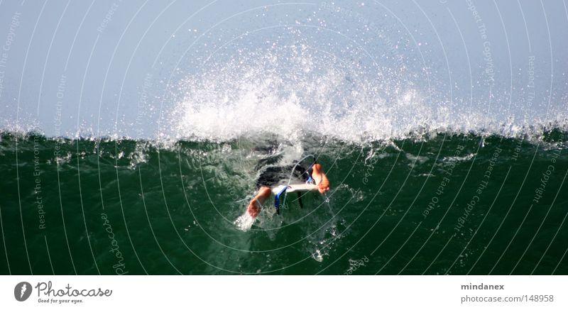 Wellenbrecher II Wasser grün blau Meer Sport Spielen Surfen Surfer