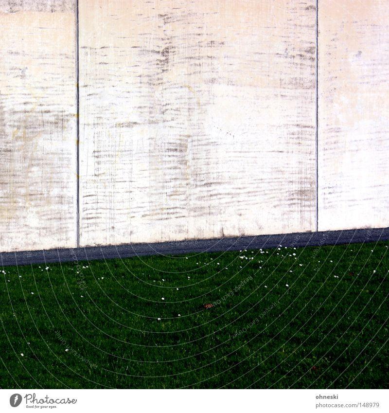 The Wall grün Wiese Wand Wege & Pfade Linie Beton Rasen Ruhrgebiet Langeweile graphisch parallel Bochum Steigung Industriekultur Jahrhunderthalle