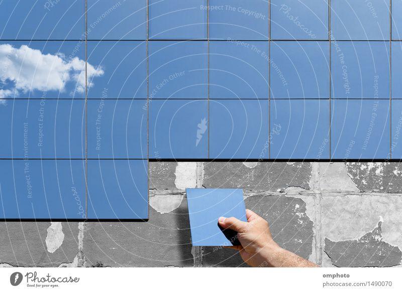 Alte Fassadensanierung alt Hand Wolken Haus Architektur Gebäude Arbeit & Erwerbstätigkeit Wohnung Energie Beton Industrie neu heimwärts Isolierung (Material)