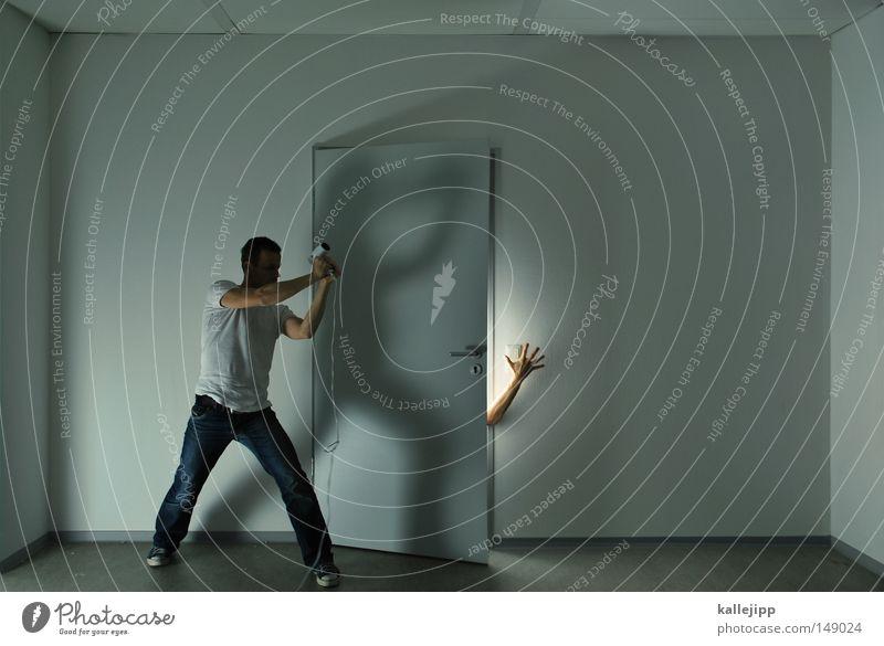 ein quaentchen trost Mann Raum Zimmertür Haartrockner aufmachen wiederkommen Mörder Gewalt Gewalttat Überraschung Dieb Konflikt & Streit Krimineller Defensive