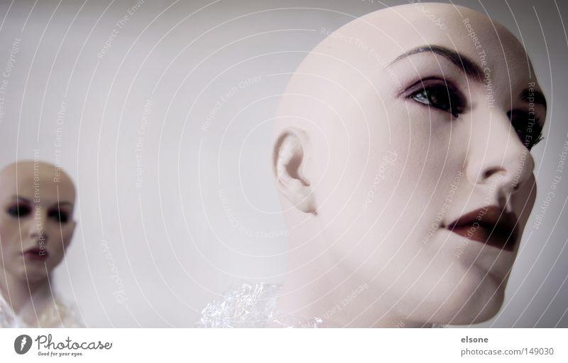 TWO FACES Frau weiß Gesicht 2 Haut Sauberkeit Albino
