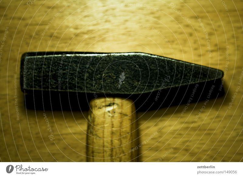 Hammer Holz Metall Metallwaren Stengel Handwerk Werkzeug Eisen Basteln Hammer klopfen Heimwerker nageln Bastler Hammerkopf