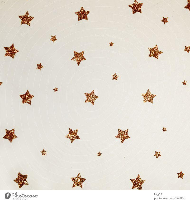 Sternenhimmel Weihnachten & Advent schön Himmel weiß Winter ruhig Schnee Stimmung glänzend gold Weihnachtsdekoration Stern (Symbol) ästhetisch Kerze