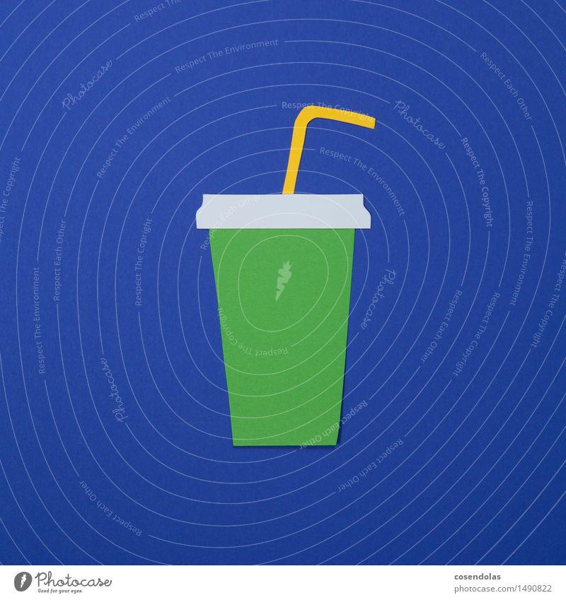Softdrink Lebensmittel Ernährung Essen Fastfood Getränk Erfrischungsgetränk Limonade Fitness Sport-Training Diät Billig blau grün pappe mehrfarbig Menschenleer