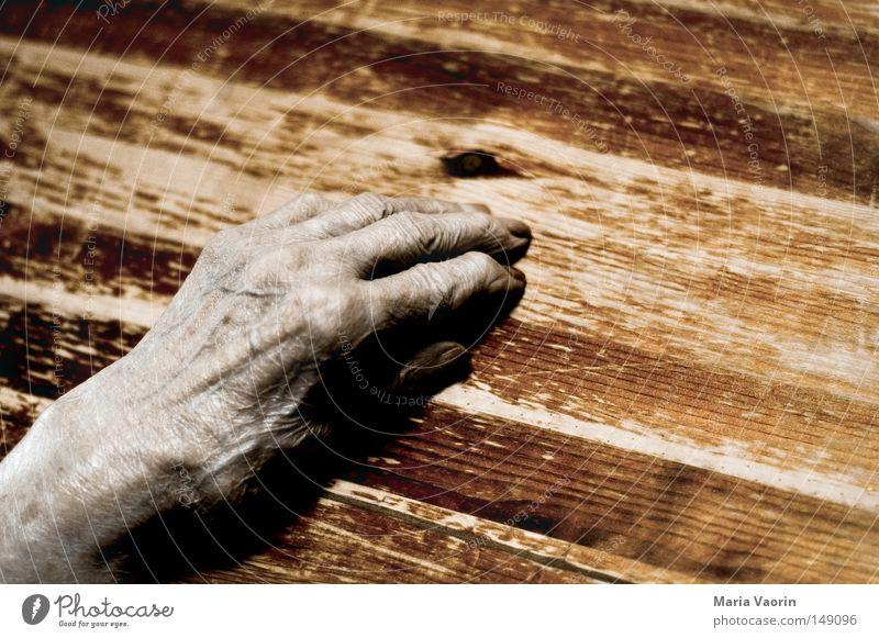 Geschichten des Lebens (2) Frau alt Hand ruhig Einsamkeit Tod Gefühle Senior Wärme Zeit Haut Finger Pause Trauer Vergänglichkeit