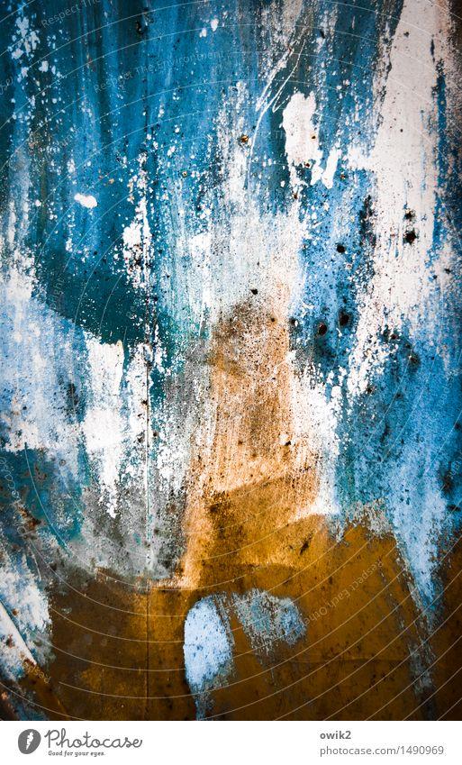 Bergstock Kunst Kunstwerk Gemälde Umwelt Natur Landschaft Wetter leuchten gigantisch groß blau orange türkis bizarr Dramatik rau Berge u. Gebirge Farbe