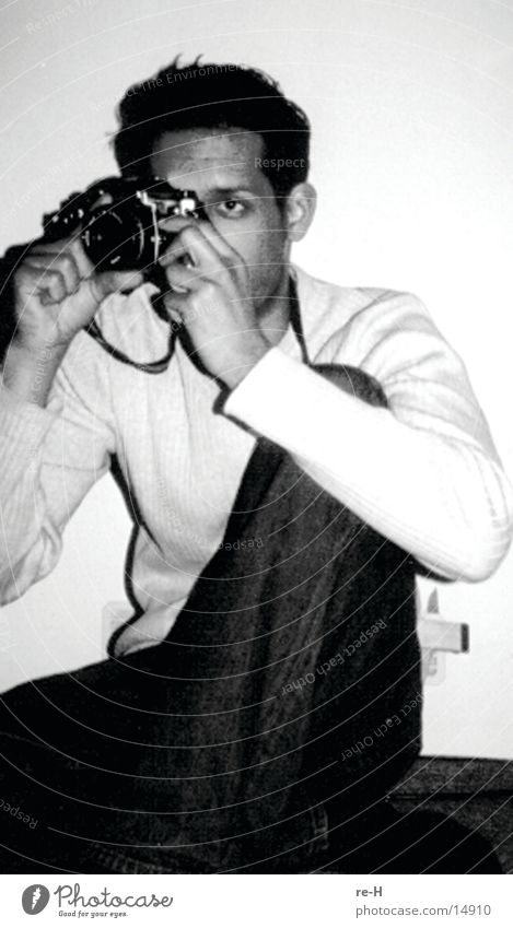 im visier des fotografen Mann Fotografie Fotografieren Schwarzweißfoto