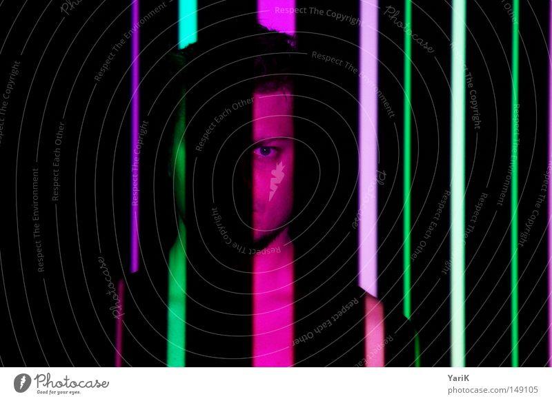 life-code Mann Hand schwarz Gesicht Farbe Auge Wand Kopf Party Lampe Linie Feste & Feiern Tanzen Rücken Arme rosa