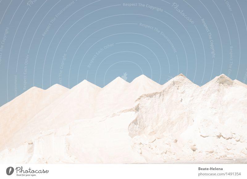 kaputt | Abbau der Salzberge wegen Eigenbedarf Natur blau Gesunde Ernährung weiß Landschaft Berge u. Gebirge Essen Gesundheit natürlich Küste außergewöhnlich