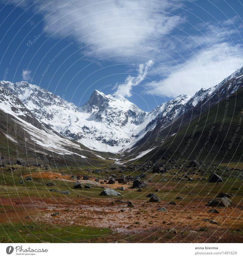 el morado gletscher Ferien & Urlaub & Reisen Ausflug Abenteuer Expedition Berge u. Gebirge wandern Geologie Natur Landschaft Pflanze Urelemente Erde Luft Wasser