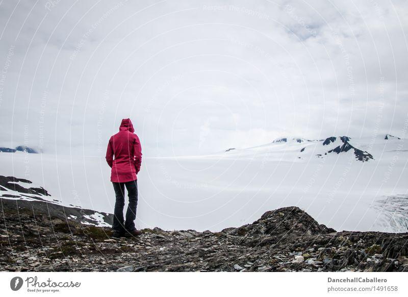 Winterwanderland Freizeit & Hobby Ferien & Urlaub & Reisen Tourismus Ausflug Abenteuer Ferne Berge u. Gebirge wandern Mensch feminin Junge Frau Jugendliche