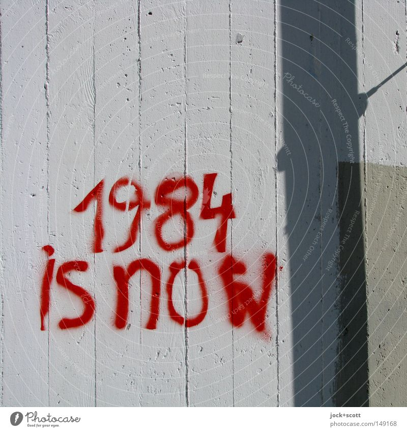 Transparent Wand Graffiti Mauer Zeit Zusammensein Beton Kreativität bedrohlich Zukunft Streifen Macht geheimnisvoll Internet Wort Typographie