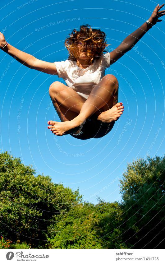 Montage kann man aussitzen Freizeit & Hobby Spielen Mensch feminin Mädchen Junge Frau Jugendliche Hand Finger Fuß 1 13-18 Jahre springen Trampolin Schneidersitz