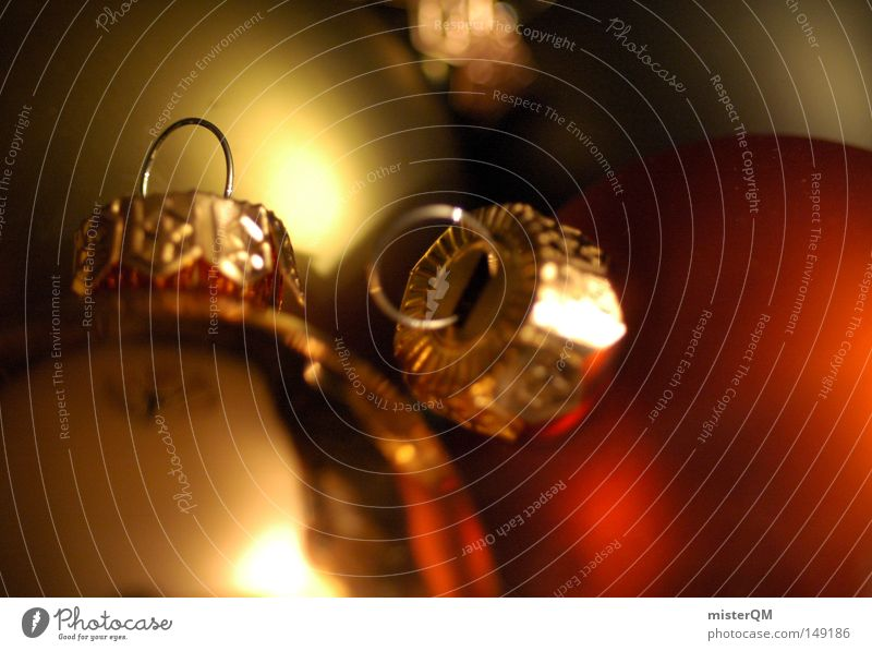 I love Weihnachten. Weihnachten & Advent rot Freude Winter kalt Gefühle Wärme Stimmung Lampe hell Feste & Feiern Beleuchtung gold Gold Industrie gut