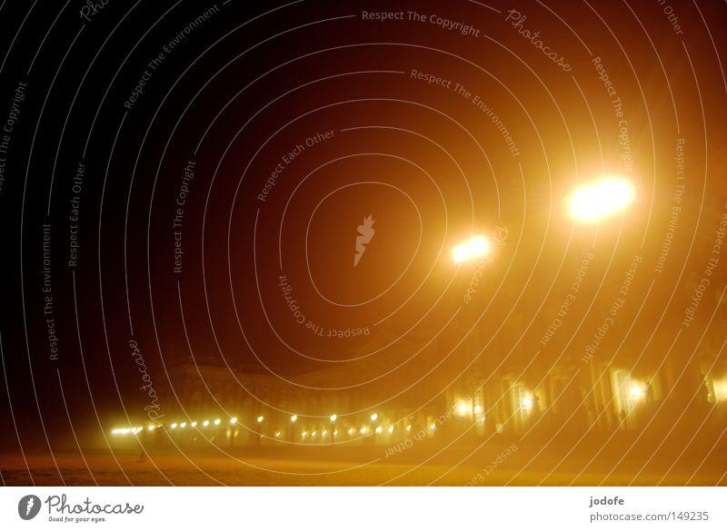 nebellichter Himmel schön Einsamkeit Winter dunkel Fenster Wärme Beleuchtung Kunst Lampe Stimmung hell Nebel Tür ästhetisch fantastisch
