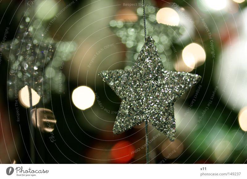 SternenGlanz Stern (Symbol) Weihnachtsstern Weihnachten & Advent verschönern Weihnachtsdekoration Baumschmuck glänzend Basteln Familienfeier Fröhlichkeit Schnur