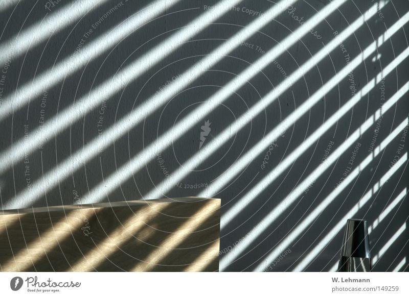 Mutterlicht! weiß Sonne schwarz Farbe Gefühle Holz Wärme Metall Beton Streifen Schnur Nähgarn Chrom Birke