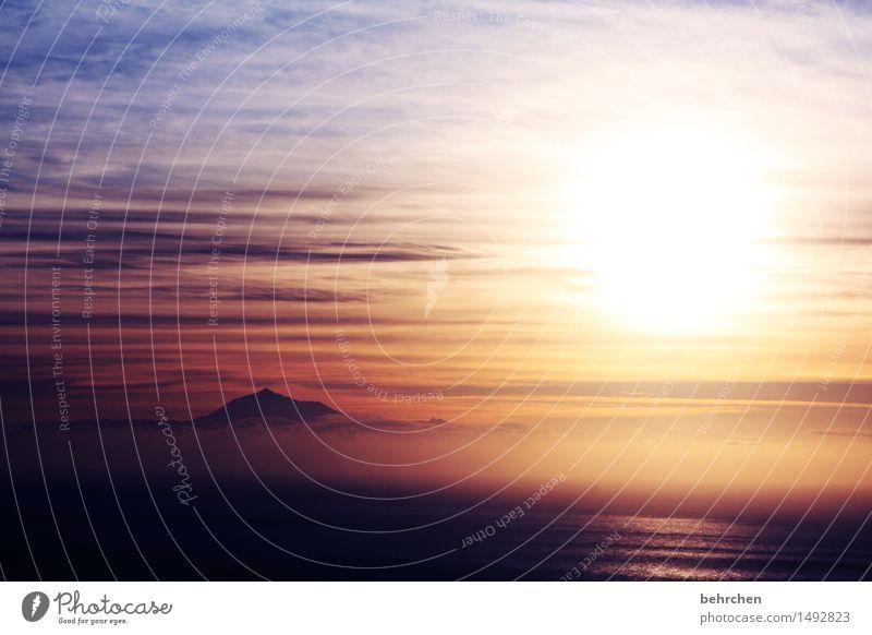 glaube Ferien & Urlaub & Reisen Tourismus Ausflug Abenteuer Ferne Freiheit Landschaft Himmel Wolken Sonne Sonnenaufgang Sonnenuntergang Schönes Wetter Nebel