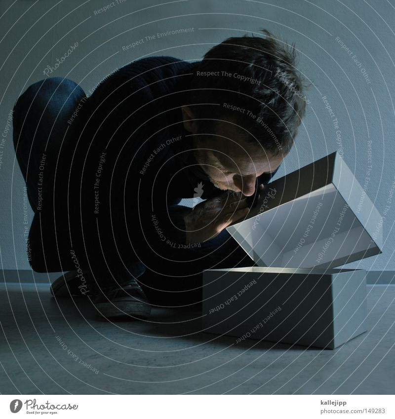 short message system Geschenk Neugier einzeln Überraschung Mensch Schachtel aufmachen 30-45 Jahre Schatz Mann Kaukasier Geburtstagsgeschenk Ein Mann allein