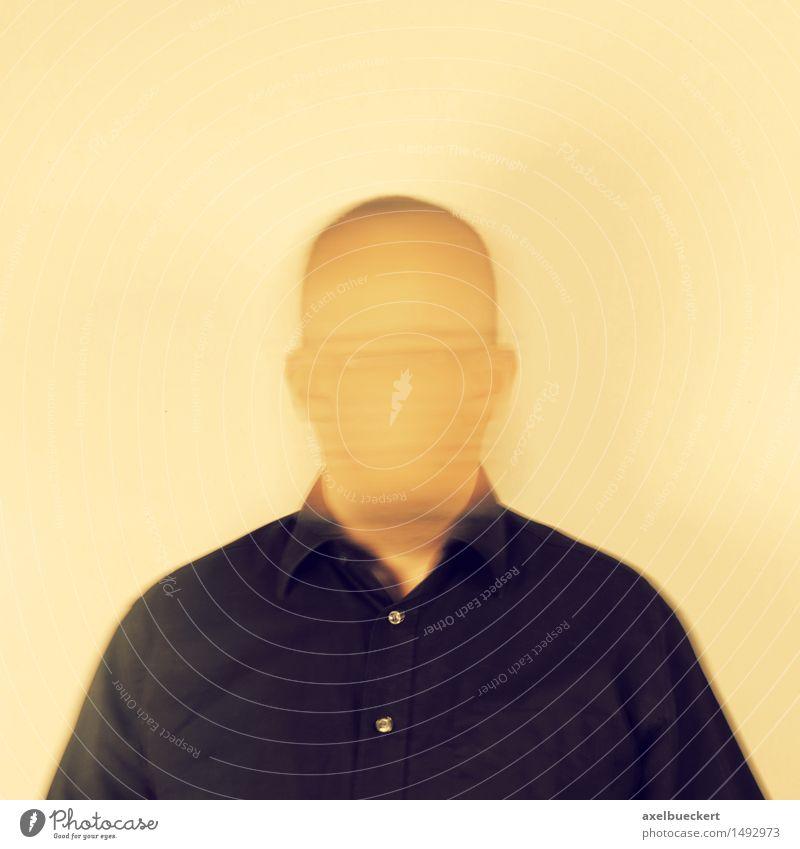unknown self Mensch maskulin Mann Erwachsene 1 30-45 Jahre bizarr Identität skurril Surrealismus anonym unkenntlich gesichtslos Selbstportrait Farbfoto