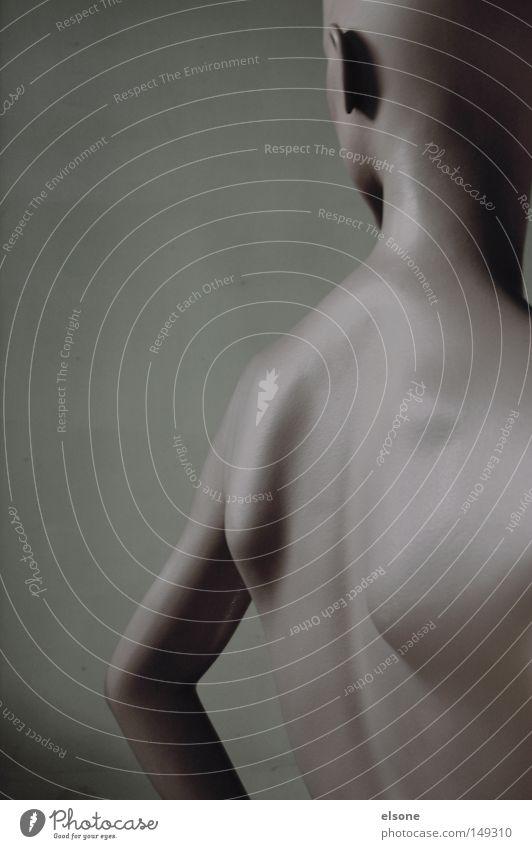 300 Frau Mensch nackt Haut Rücken Statue Kunststoff Puppe Skulptur