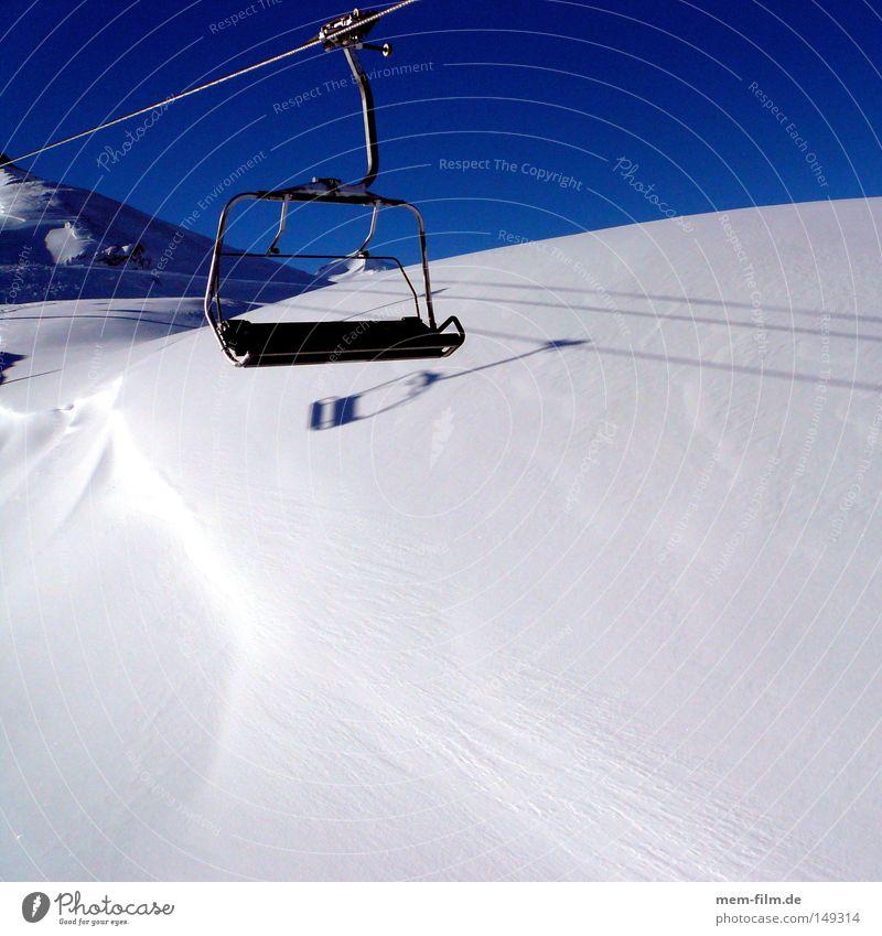 fern-seh-sessel Himmel blau Ferien & Urlaub & Reisen Schnee Alpen Schönes Wetter Skier Schweiz Frankreich Österreich Bergsteigen Sessel