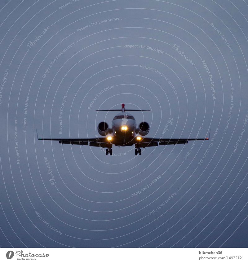 frontal Luftverkehr Flugzeug Passagierflugzeug Flughafen Flugzeuglandung Flugzeugstart Abheben fliegen Dynamik Geschwindigkeit Ferien & Urlaub & Reisen Himmel