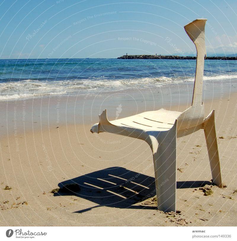 Pauschalurlaub Wasser Meer Sommer Strand Ferien & Urlaub & Reisen Sand Wellen Küste Sicherheit Stuhl kaputt Zerstörung
