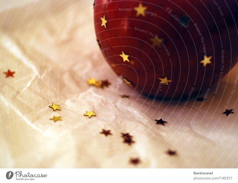 Sterne und Apfel Reichtum Stil Winter Dekoration & Verzierung Feste & Feiern glänzend gold besinnlich verschönern Stern (Symbol) Bratapfel schimmern