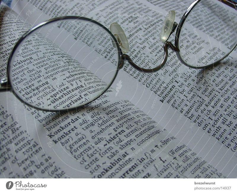 Brille im Wörterbuch Buch Englisch Lexikon