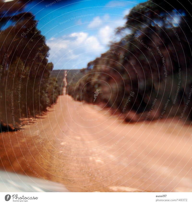 700-noch ein langer Weg Horizont Unendlichkeit Verkehrswege Wüstenpiste
