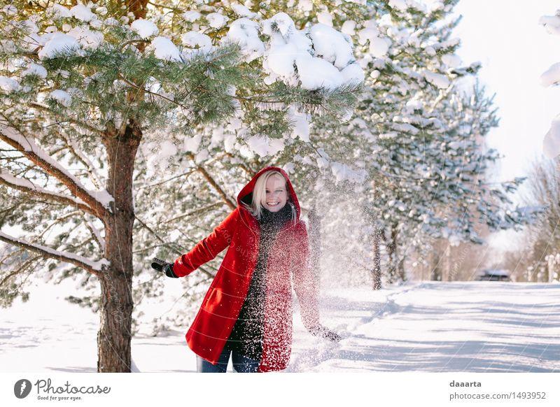 Freude Winter Leben Gefühle Schnee feminin Stil Spielen lachen Lifestyle Freiheit Party Design Tourismus wild Freizeit & Hobby