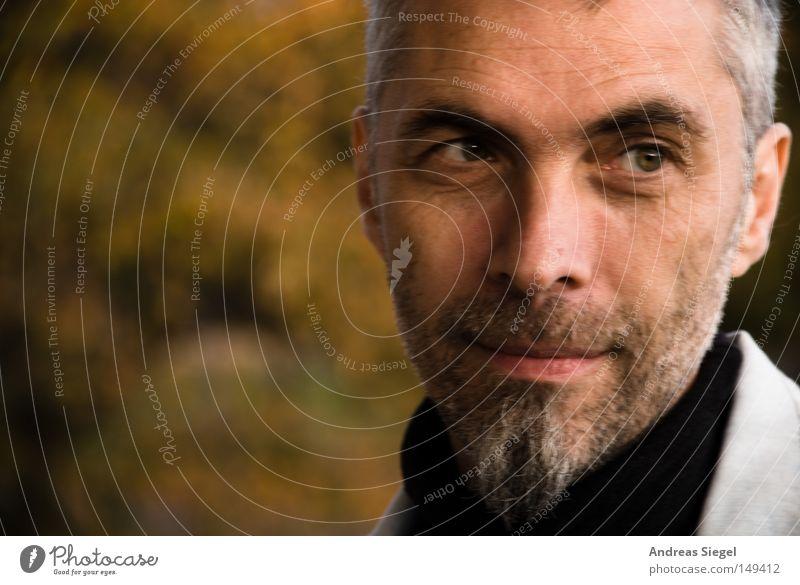 Z@DD Porträt Mann Gesicht Herbst grau Mensch Bart Freundlichkeit z Computer-Nutzer