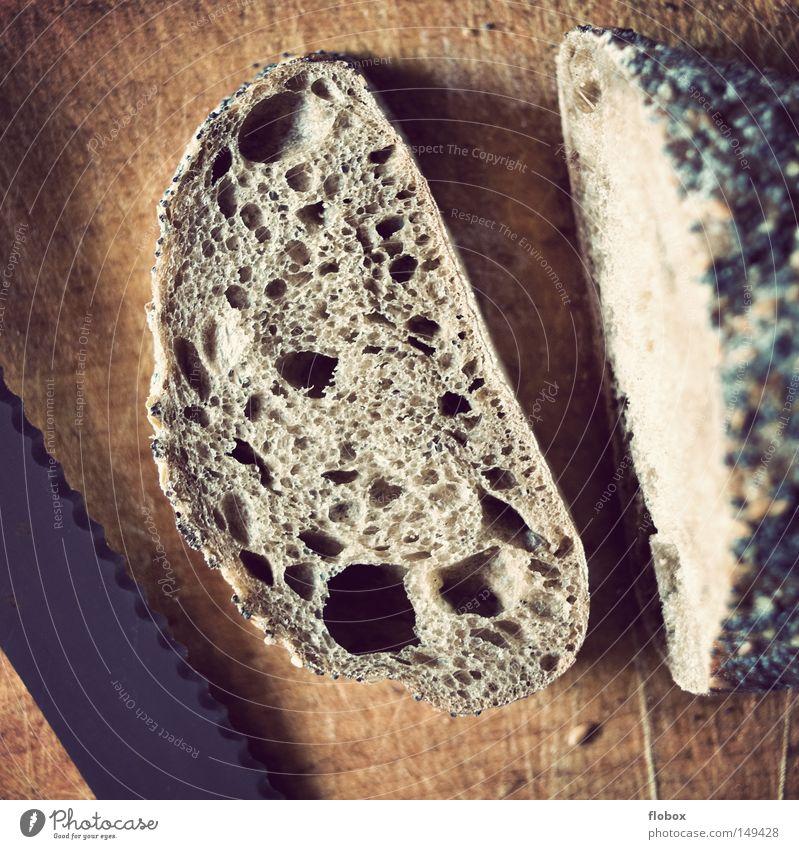 Brot Holz Gesundheit Lebensmittel frisch Ernährung weich Gastronomie Getreide Mohn Korn Frühstück lecker Loch Bioprodukte ökologisch