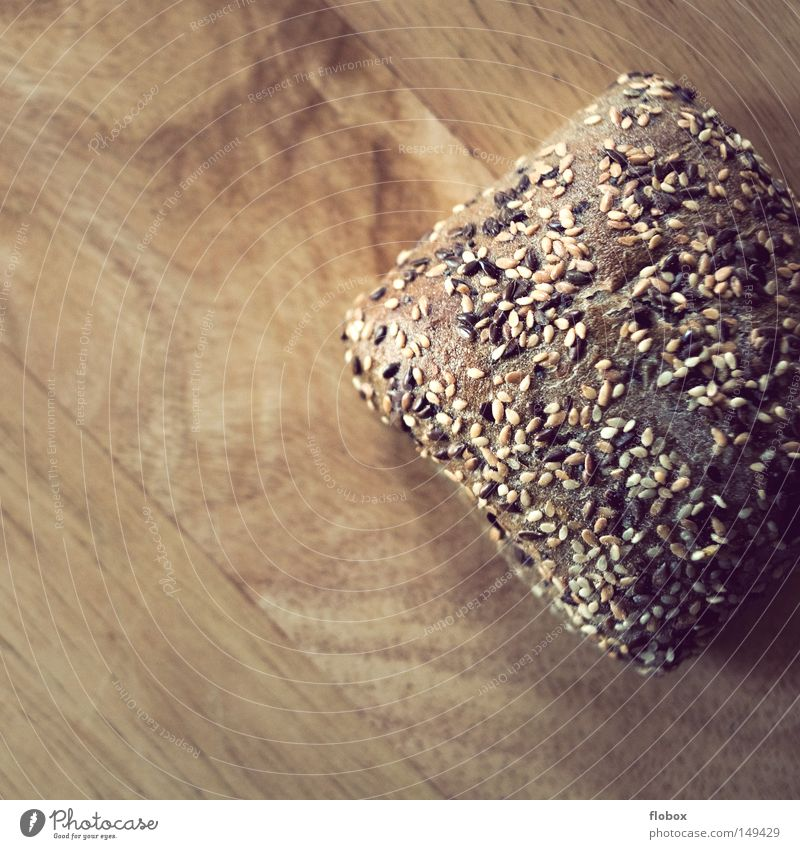 Geschnitten Holz Gesundheit Lebensmittel frisch Ernährung Gastronomie Getreide Korn Frühstück lecker Brot Bioprodukte ökologisch Brötchen Backwaren Kerne