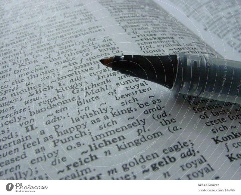 Stift im Buch Schreibstift Lexikon Schreibgerät