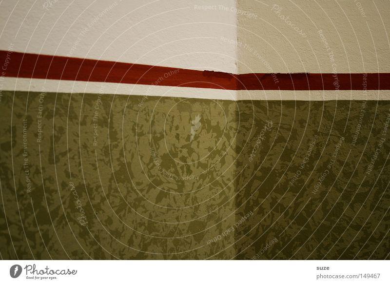 Ab in die Ecke! Häusliches Leben Haus Dekoration & Verzierung Tapete Mauer Wand Linie grün Flur Zimmerecke Raum Borte Streifen Textfreiraum Tapetenmuster