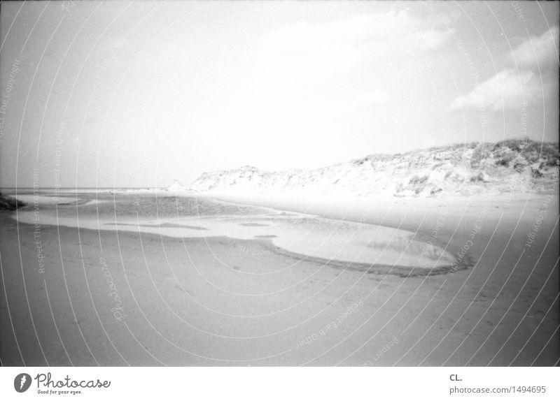 am strand Ferien & Urlaub & Reisen Ferne Freiheit Strand Meer Insel Umwelt Natur Landschaft Urelemente Sand Wasser Himmel Wolken Klima Wetter Schönes Wetter